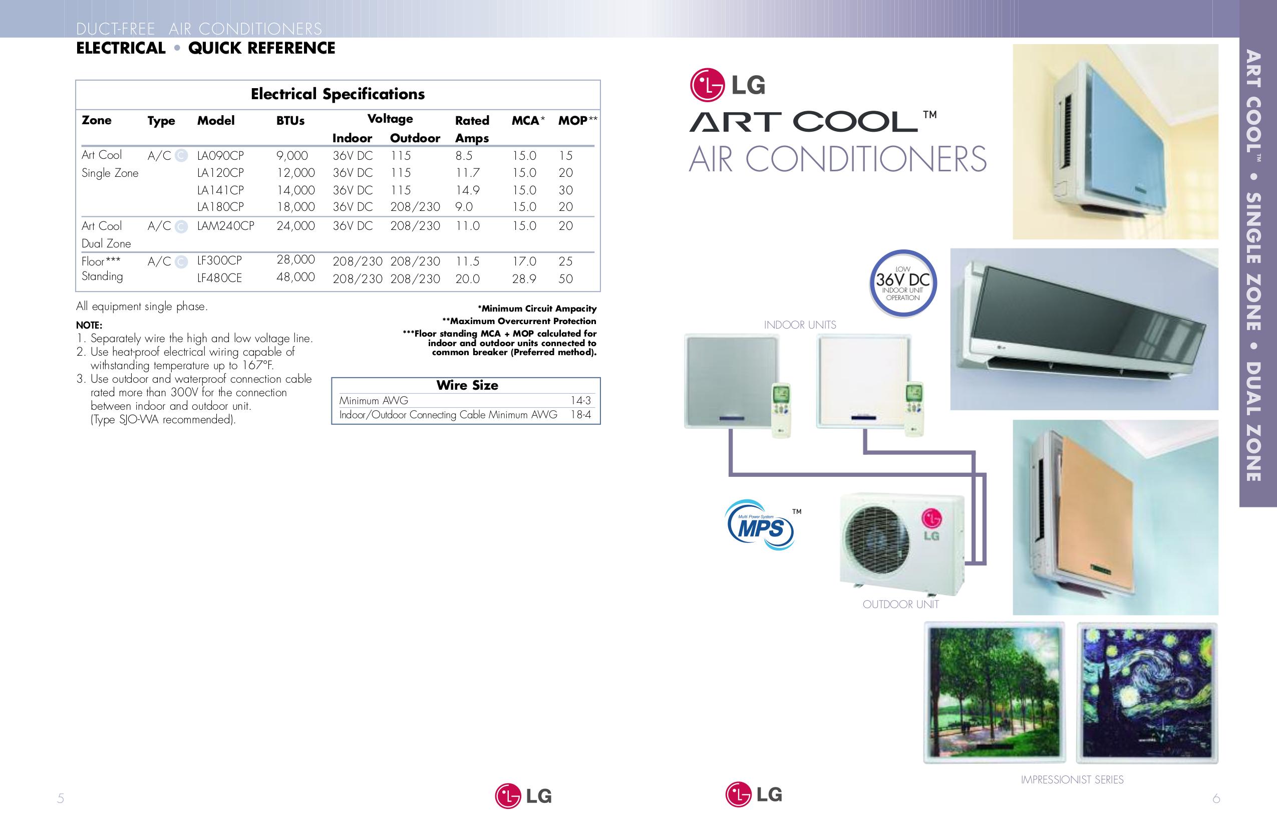 pdf manual for lg air conditioner art cool la120cp. Black Bedroom Furniture Sets. Home Design Ideas