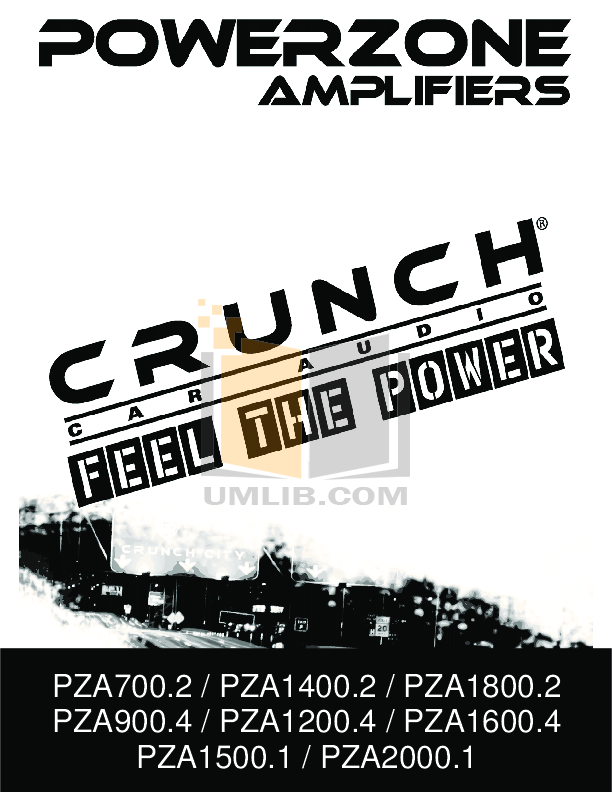 pdf for Crunch Car Amplifier PowerZone PZA900.4 manual