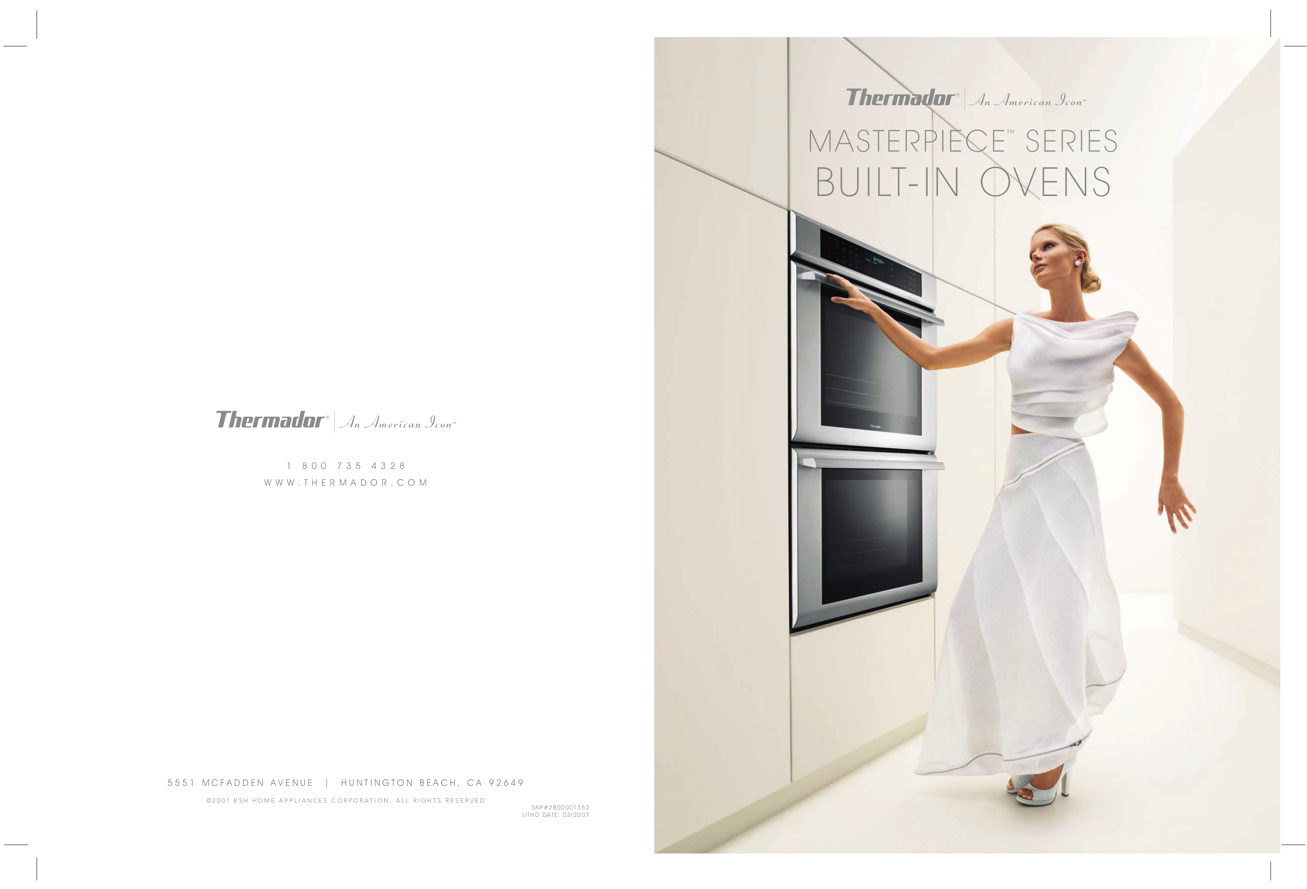 pdf for Thermador Oven MED302EB manual