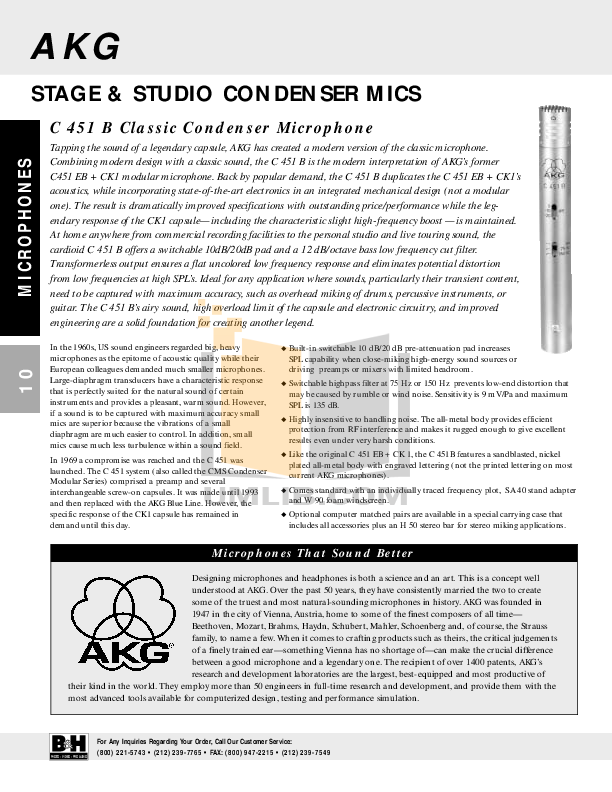 Crown Other PCC-170SWO Microphones pdf page preview