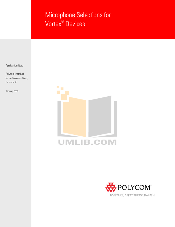 pdf for Crown Other PCC-170SWO Microphones manual