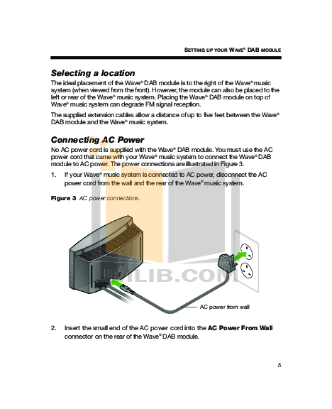 pdf manual for bose radio wave radio series iii rh umlib com Bose SoundDock Portable Speaker Bose Wave System Remote