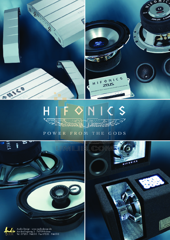 PDF manual for Hifonics Subwoofer Atlas AS12SQ