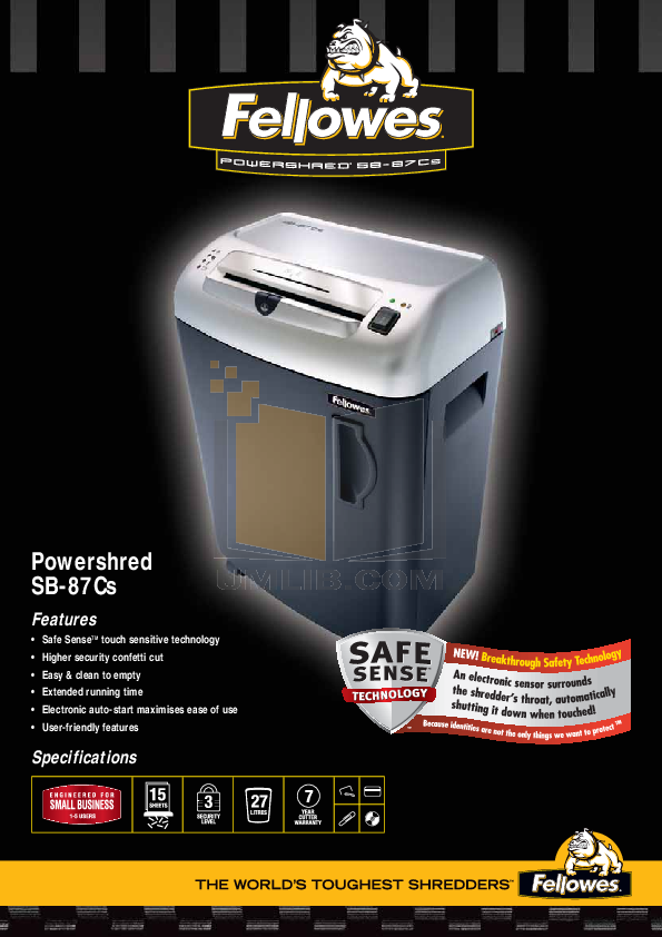 download free pdf for fellowes sb 87cs shredders other manual rh umlib com