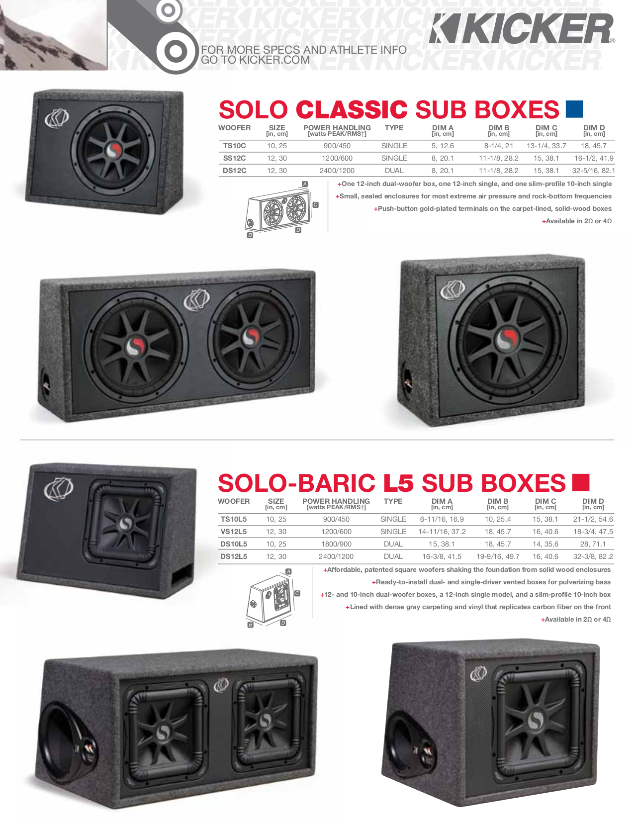 ... Kicker Subwoofer Solo Classic TS10C pdf page preview ...