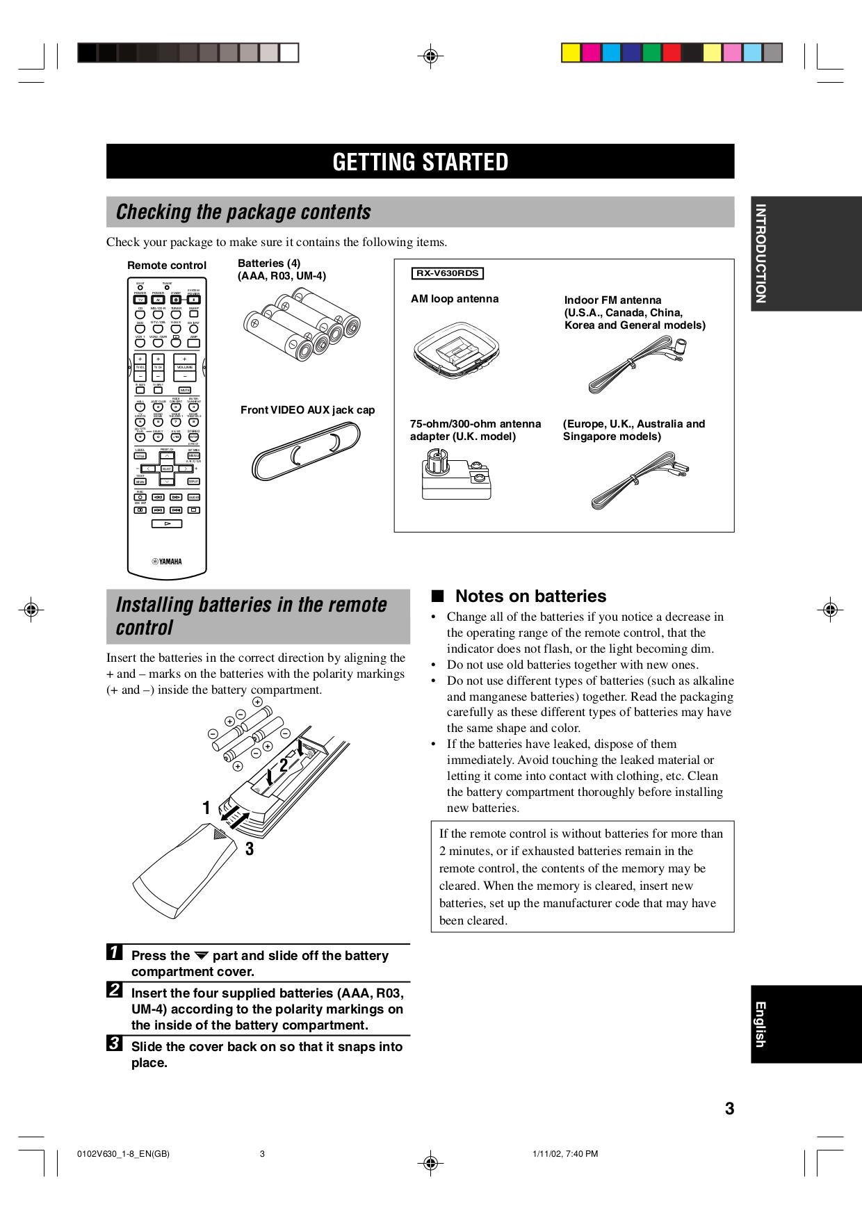 PDF manual for Yamaha Amp DSP-A1