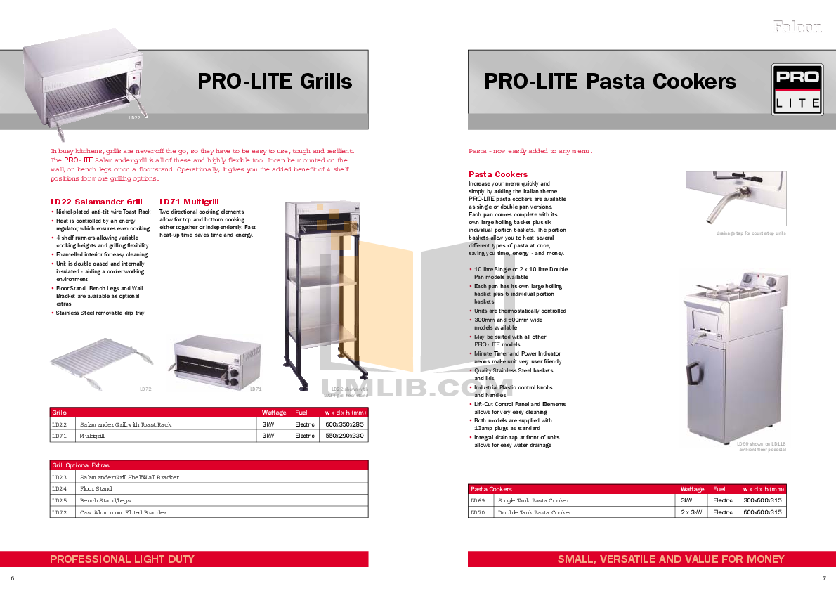 Falcon Grill LD71 pdf page preview