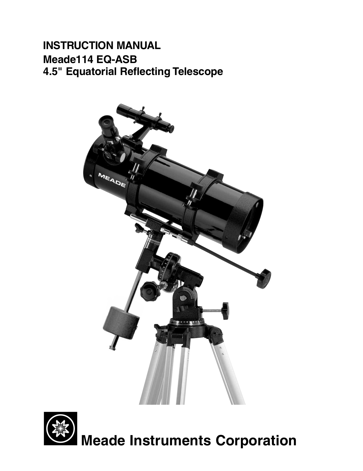 Download free pdf for Meade DS-80 Telescope manual