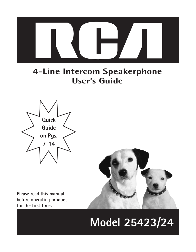 download free pdf for rca 25423re1 telephone manual rca 25424re1 manual RCA Television Owner Manual