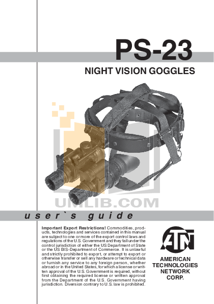 pdf for Atn Binocular PS-23-4 manual