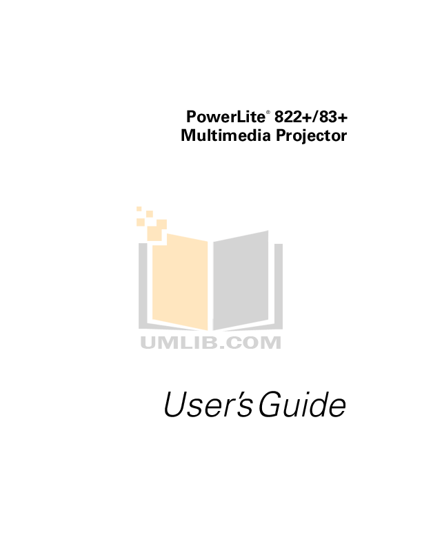 pdf for Epson Projector 1221 manual