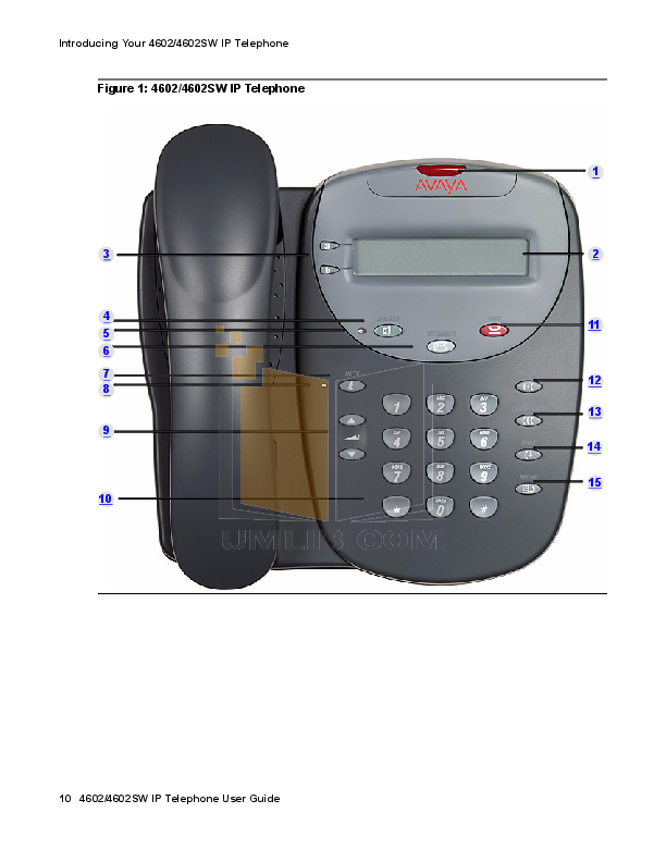 Avaya Telephone 4602SW pdf page preview