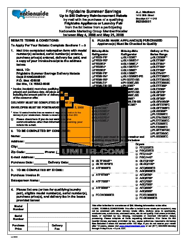 pdf for Frigidaire Refrigerator Gallery PHS66EJSB manual