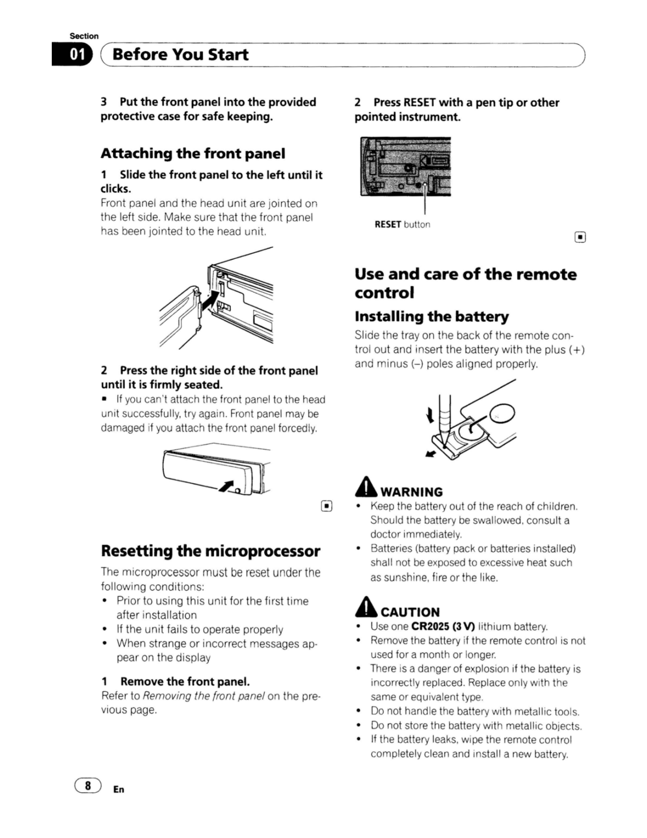 PDF manual for Pioneer Car Receiver DEH-P6100BT