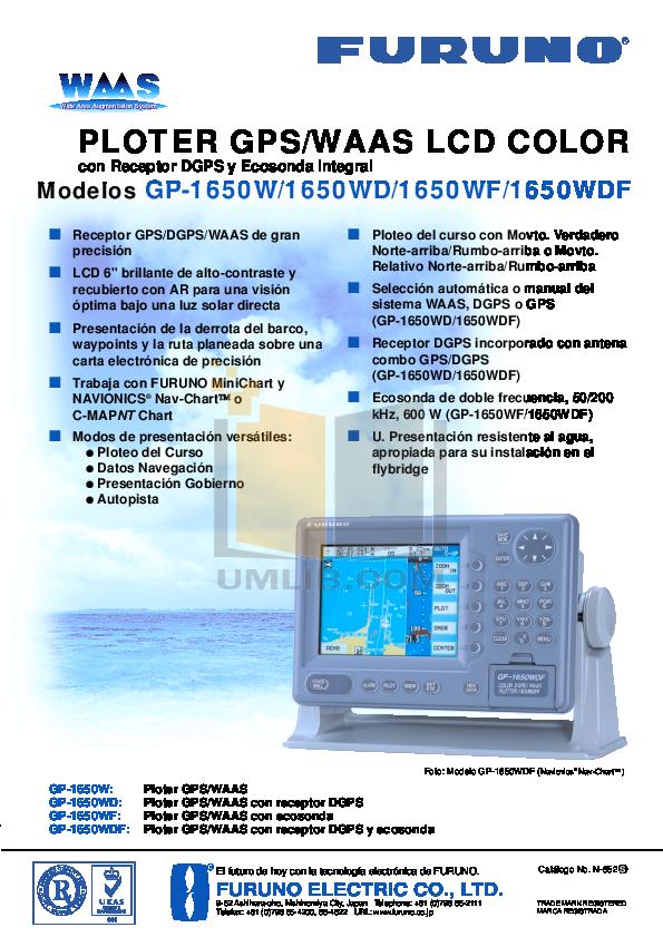 pdf for Furuno GPS GP-1650WDF manual