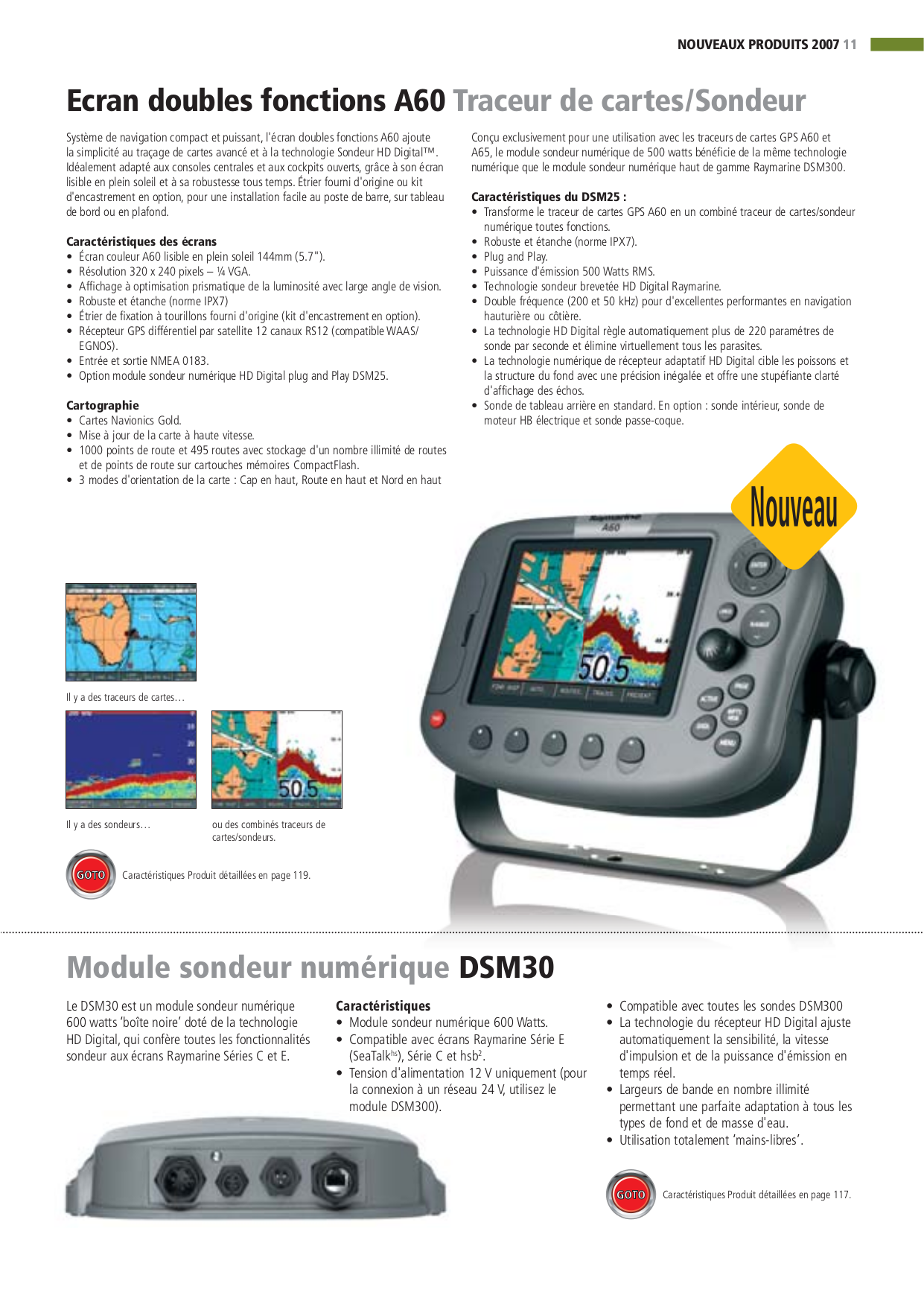 Download free pdf for Raymarine A60 GPS manual