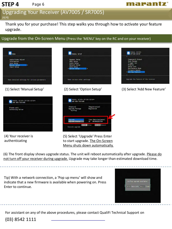 PDF manual for Marantz Receiver SR7005