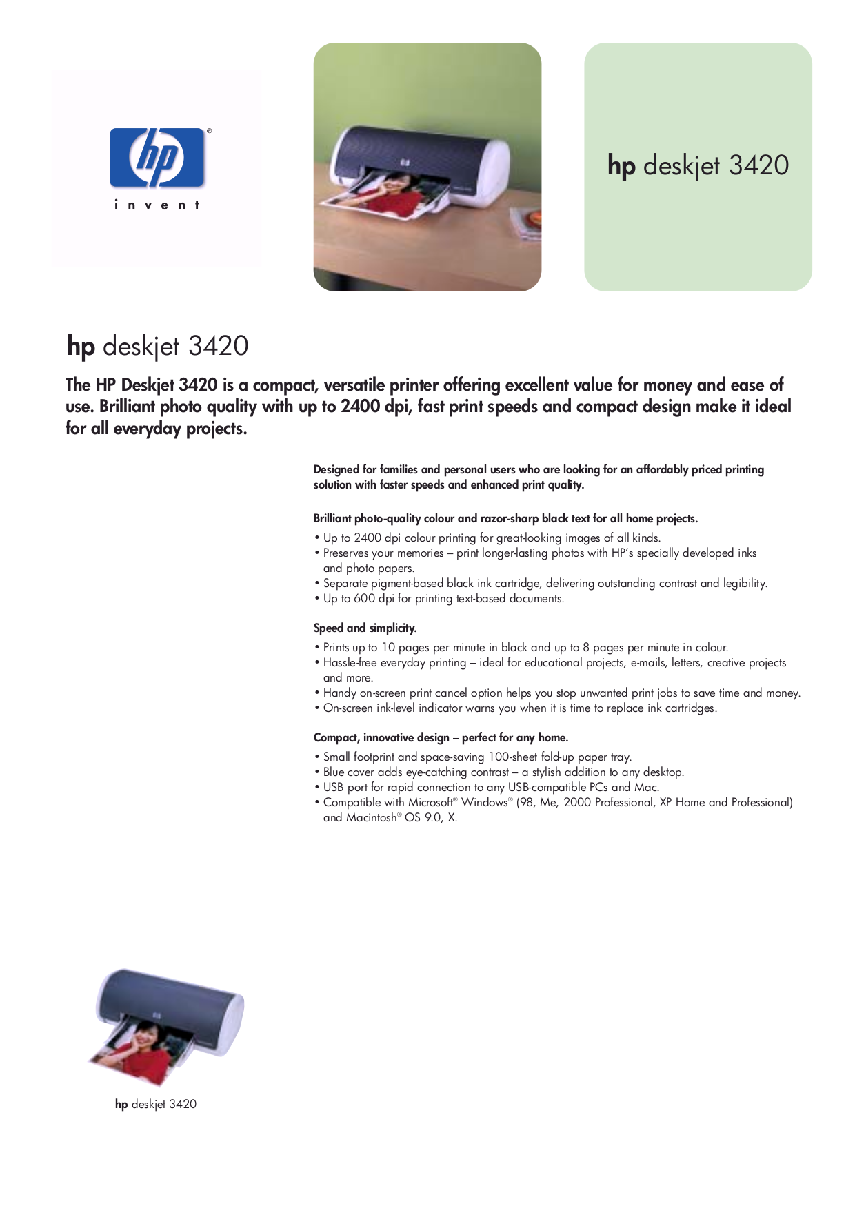 принтер hp deskjet 3420 инструкция
