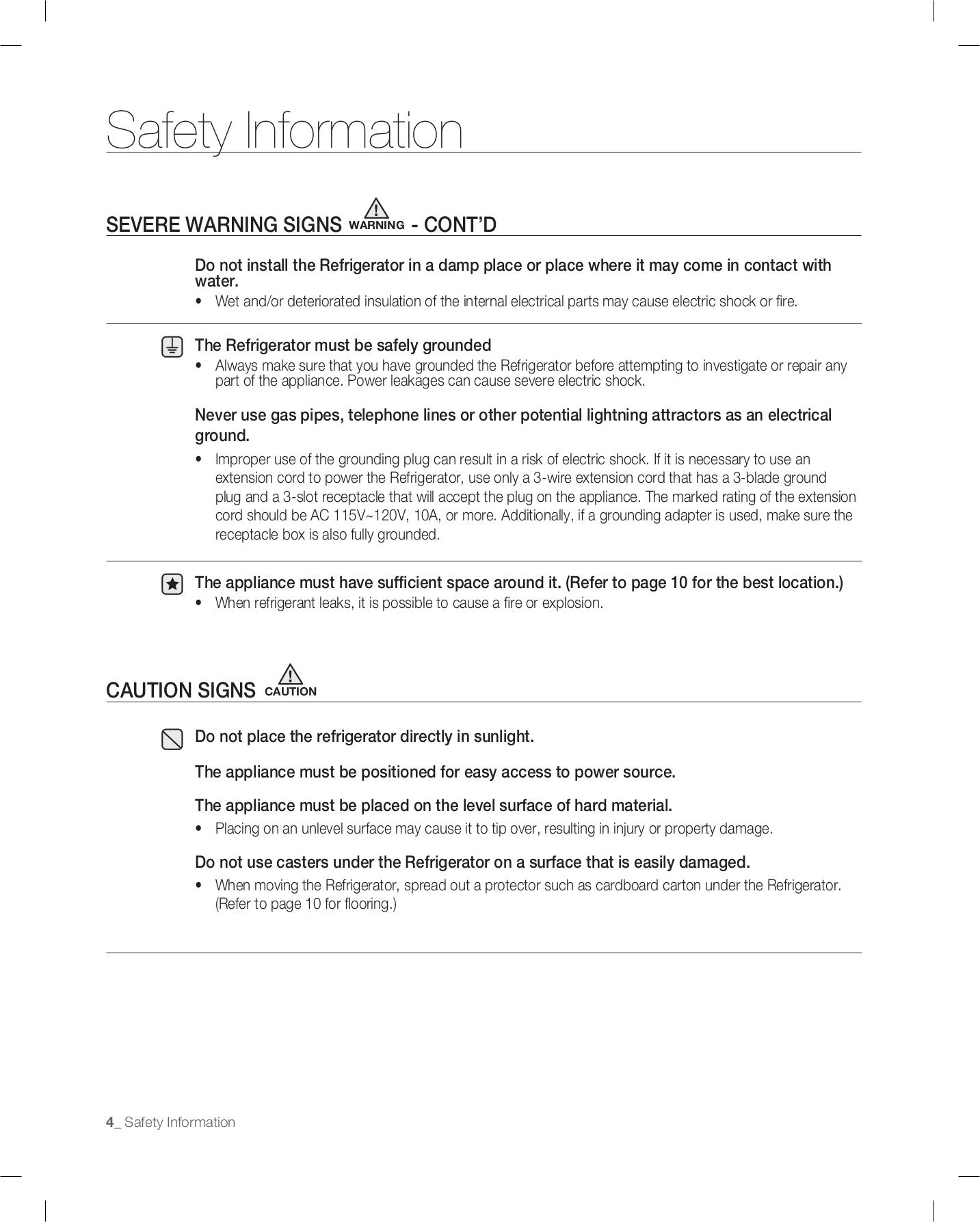 Samsung Refrigerator RB217AB pdf page preview