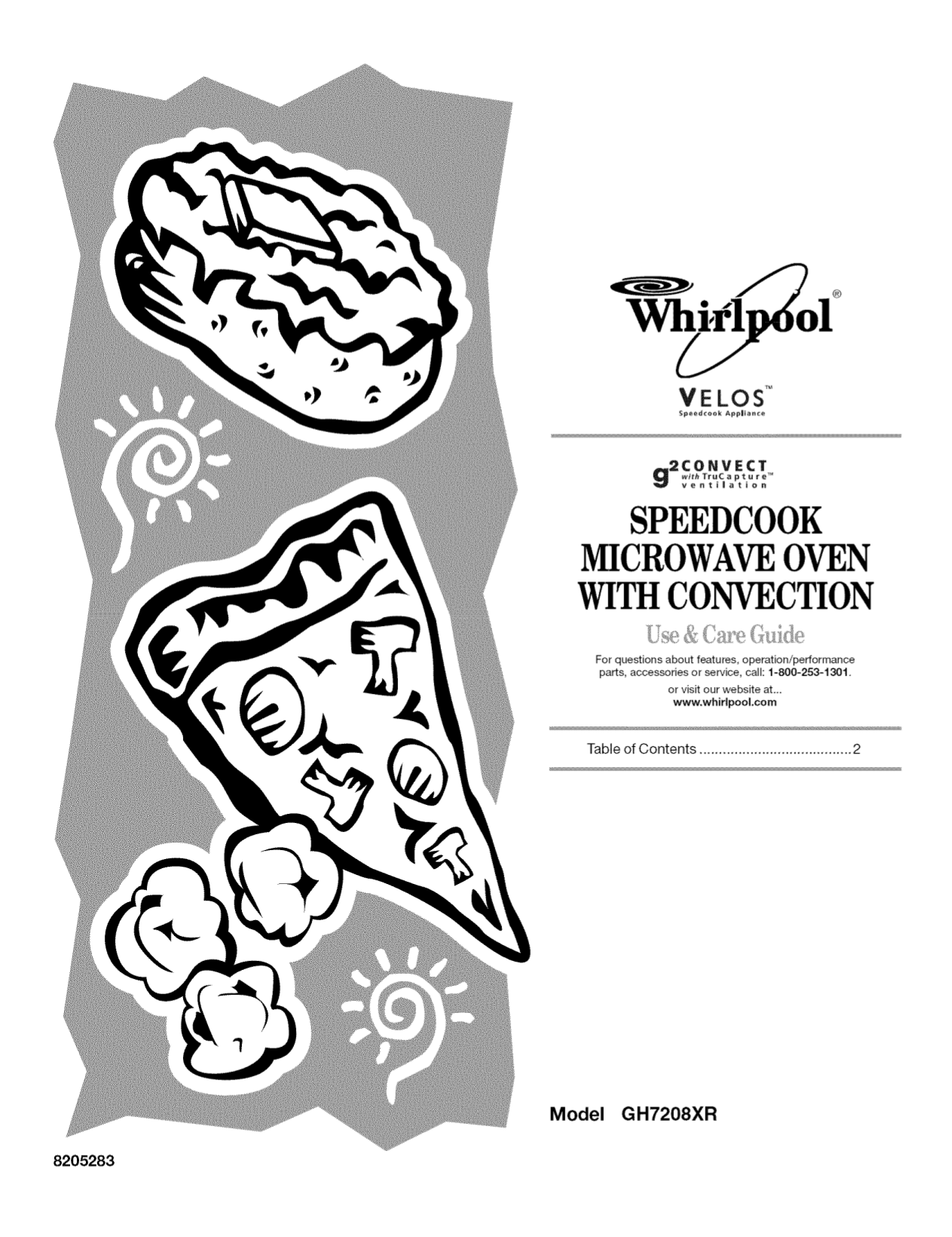 pdf for Whirlpool Microwave Gold GH7208XRS manual
