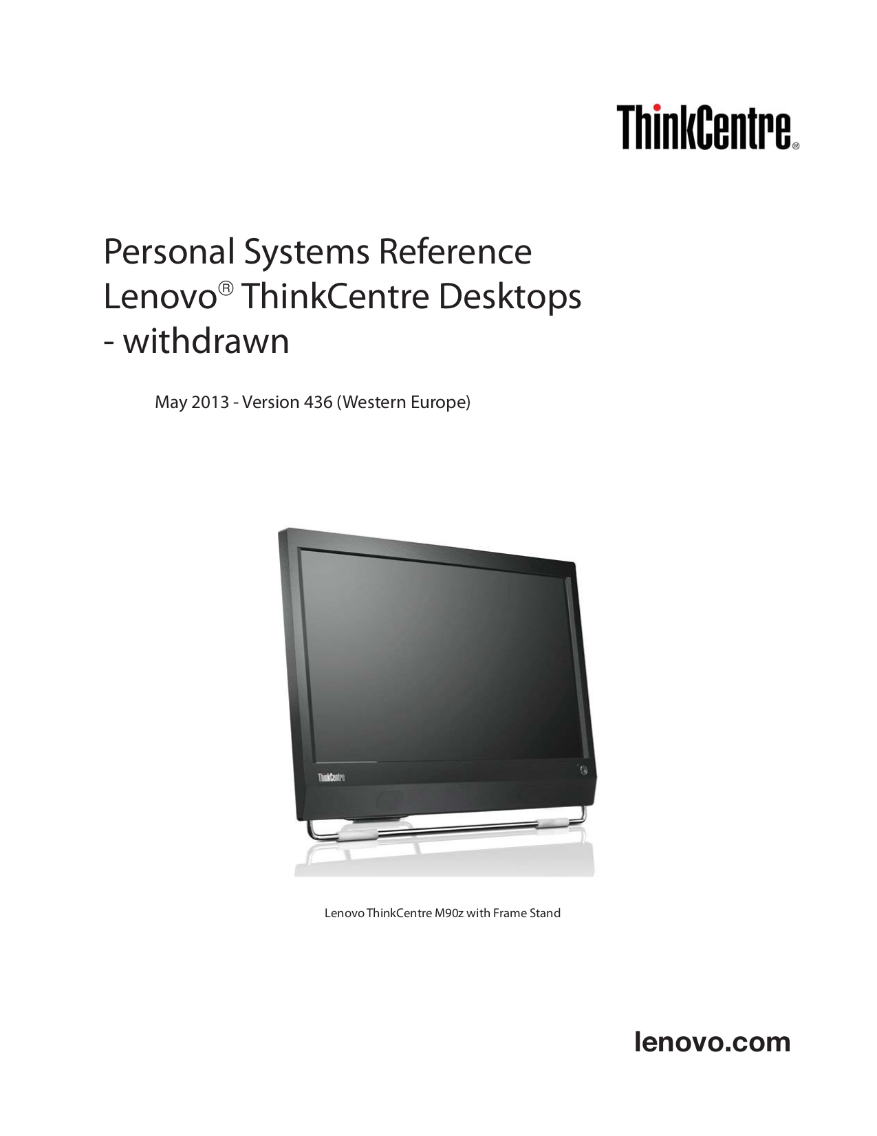 pdf for Lenovo Desktop ThinkCentre M90z 5205 manual