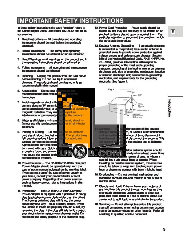 pdf manual for canon camcorders xl1 rh umlib com fbi xl1 user manual Instruction Manual