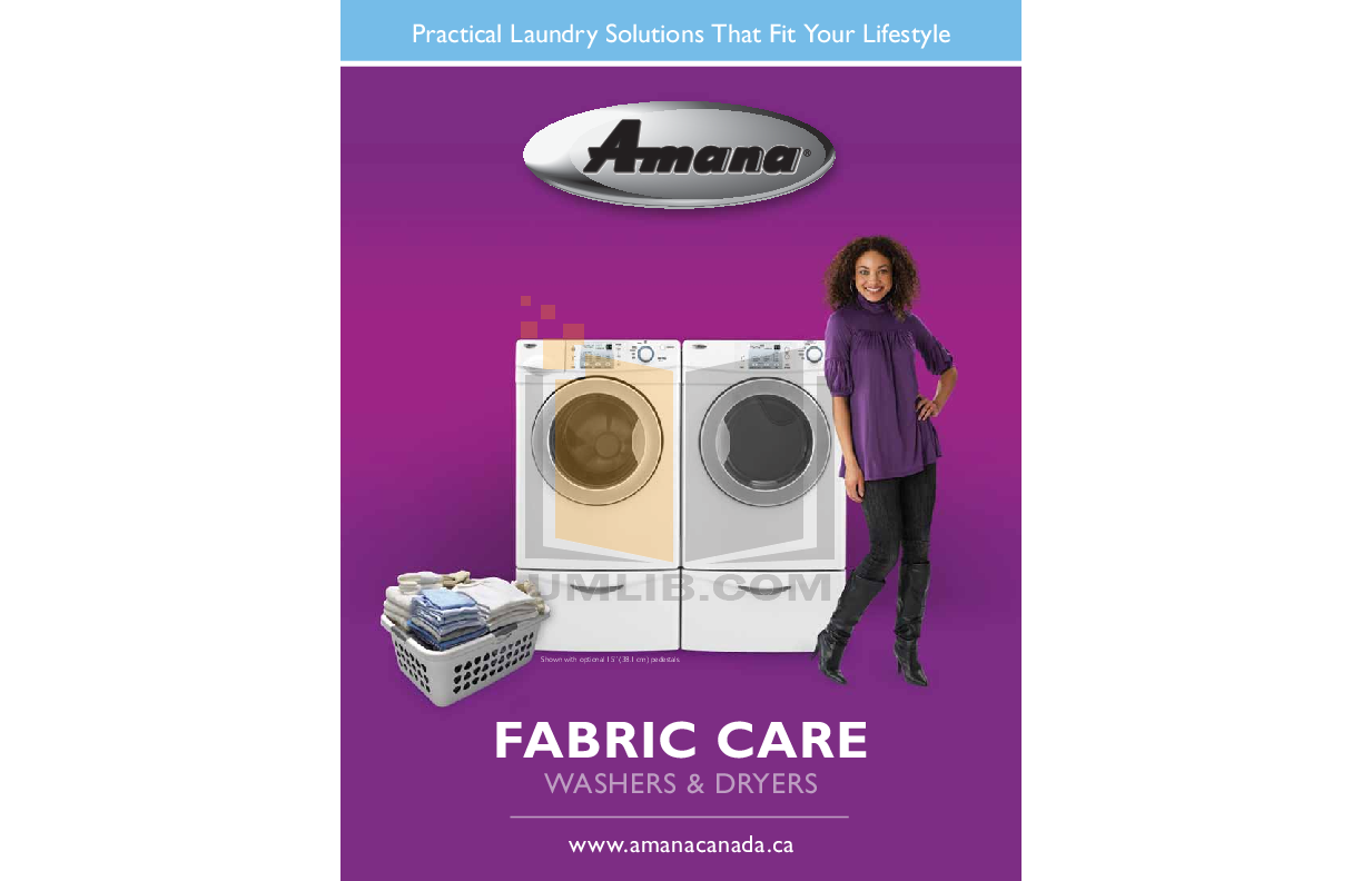 pdf for Amana Washer NFW7200TW manual