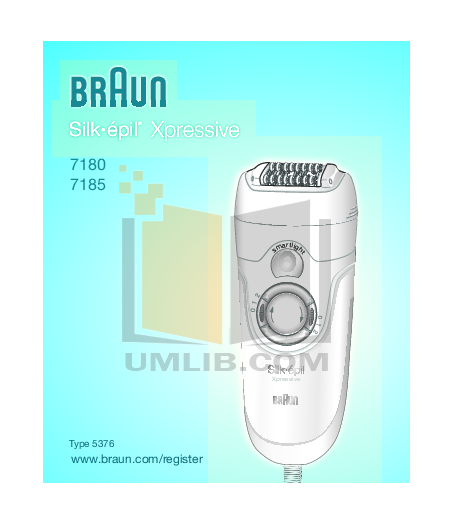 pdf for Braun Other Silk-Epil Xpressive 7180 Epilators manual