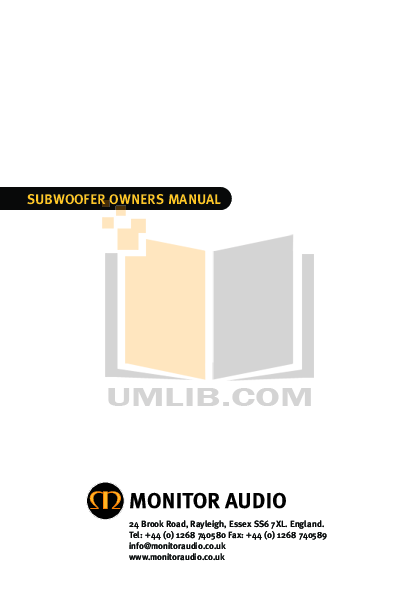 pdf for Audiovox Subwoofer ASW1200 manual