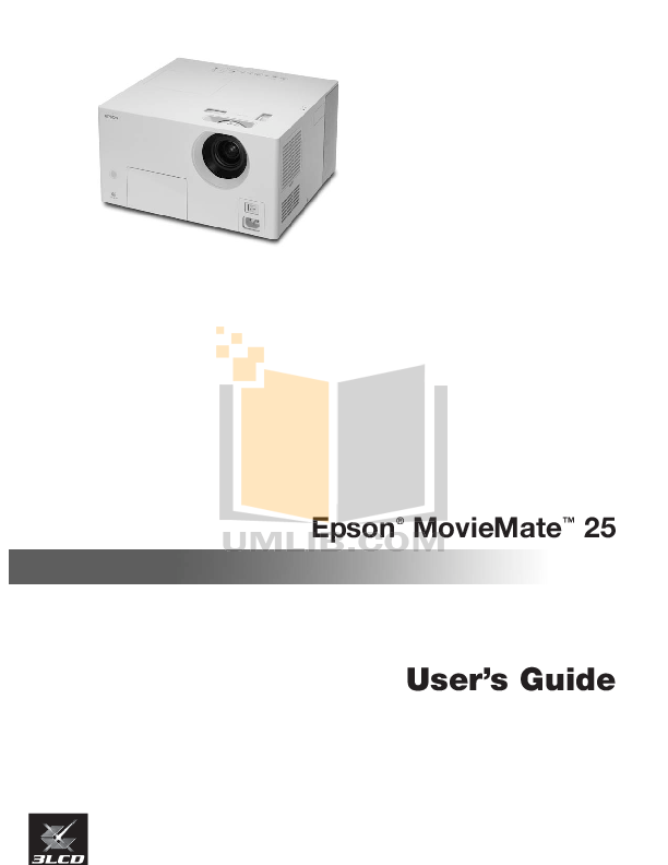 pdf for Epson Projector MovieMate 50 manual