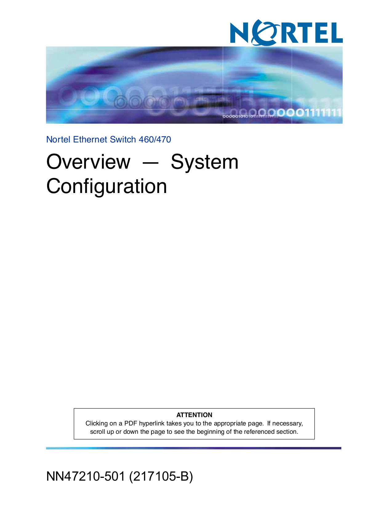 pdf for Nortel Switch 110-24T manual