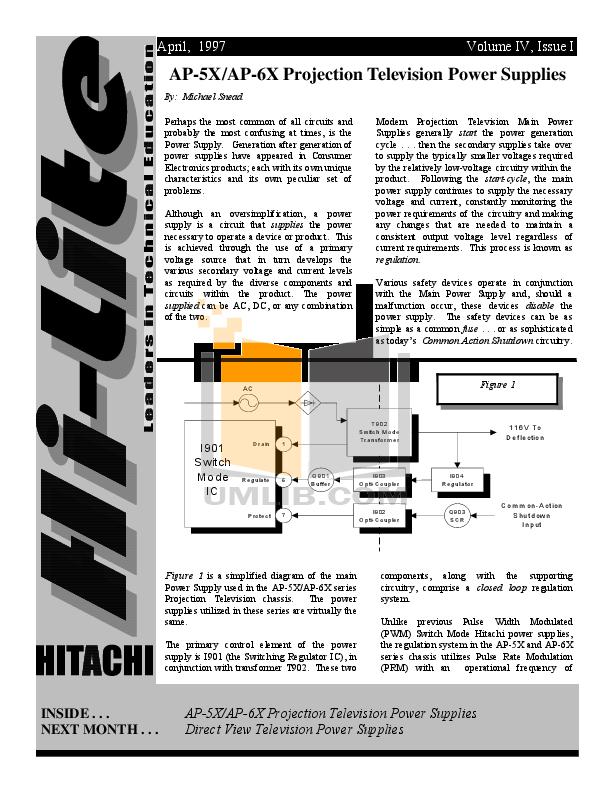 pdf for Hitachi TV 50UX27K manual