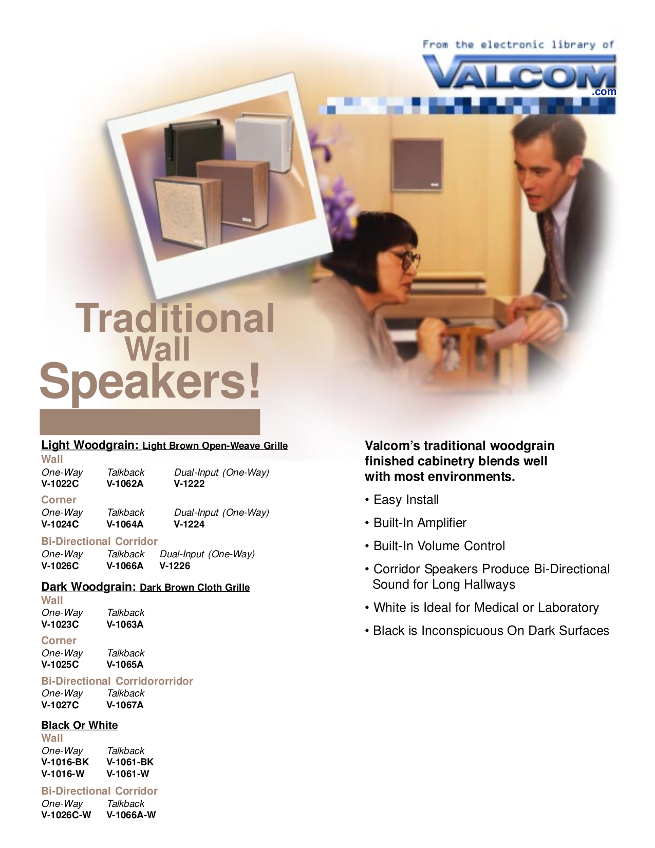 pdf for Valcom Speaker V1226 manual