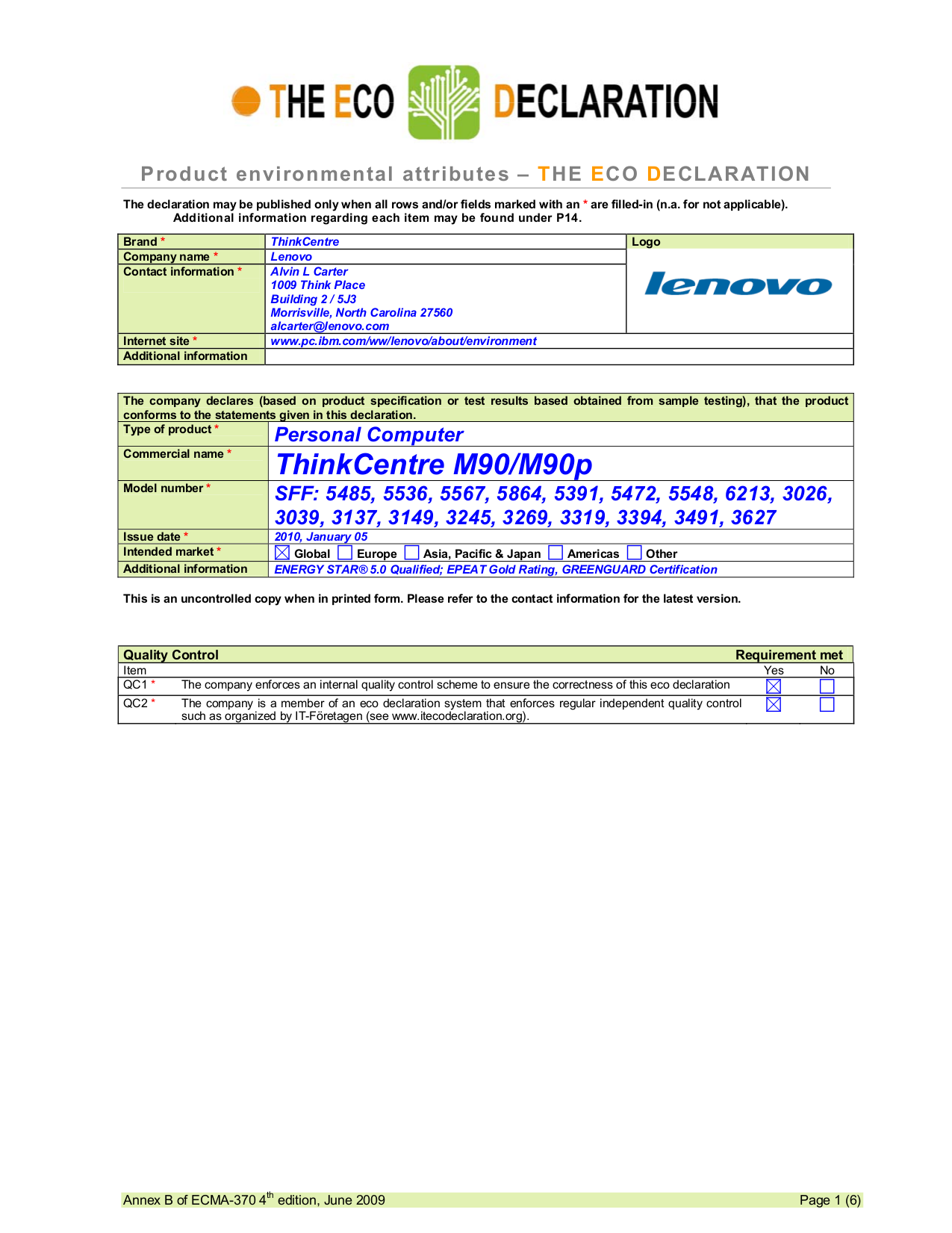 pdf for Lenovo Desktop ThinkCentre M90 3491 manual