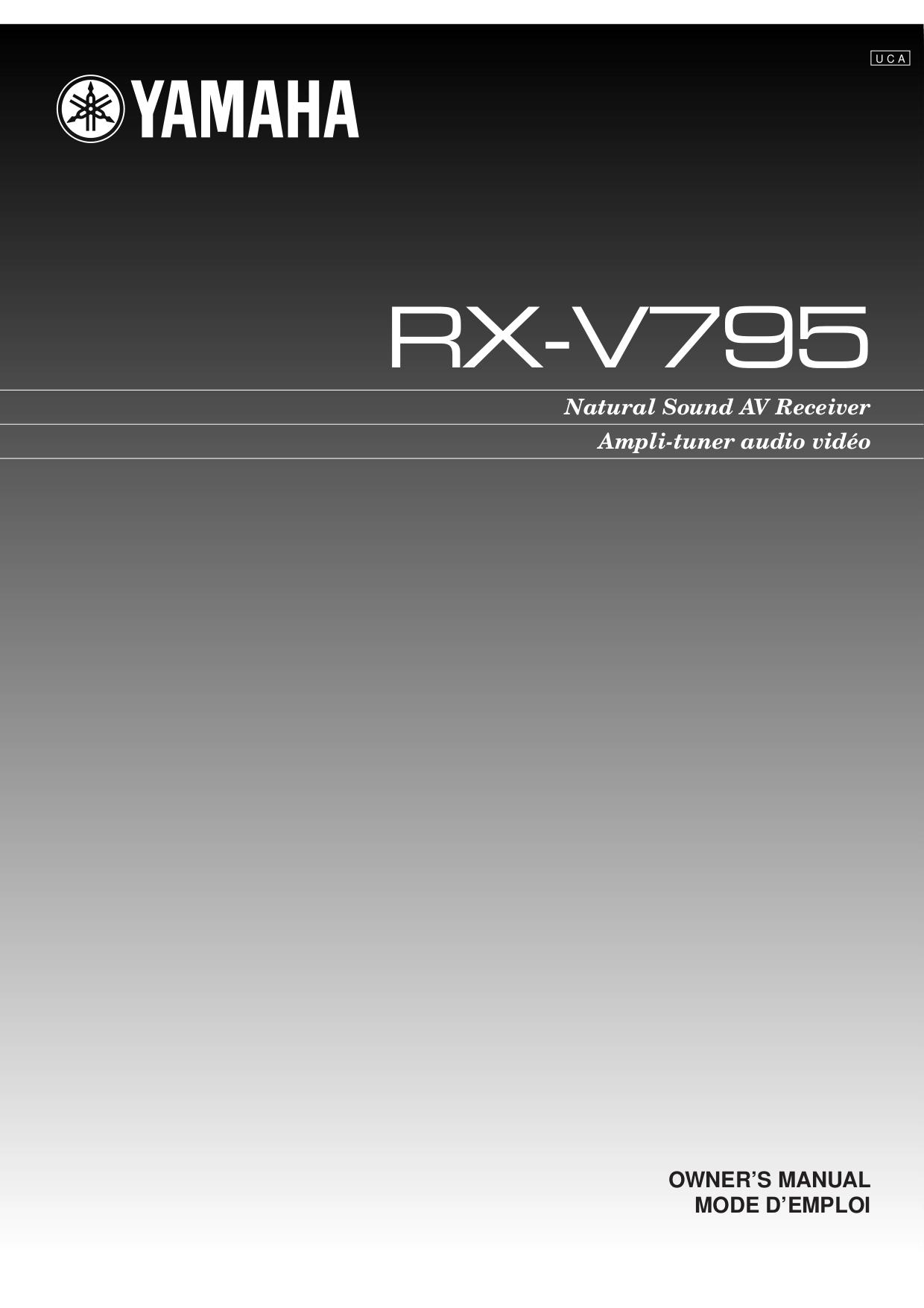 Yamaha Rx V795 Manual Stihl Chainsaw Parts Diagram Besides Fs 55 Carburetor Array Download Free Pdf For Receiver Rh Umlib Com