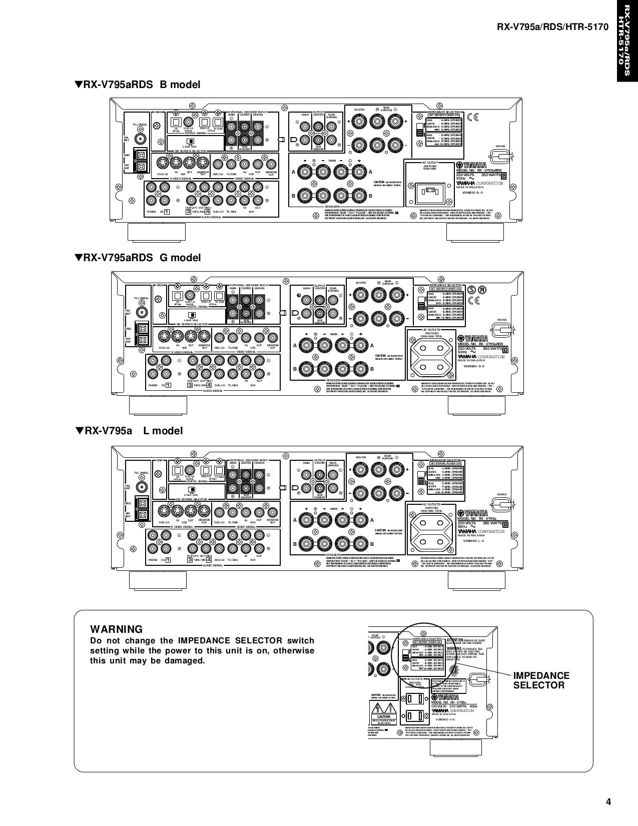 pdf manual for yamaha receiver rx v795 rh umlib com yamaha rx v795rds notice yamaha rx v795 manual pdf