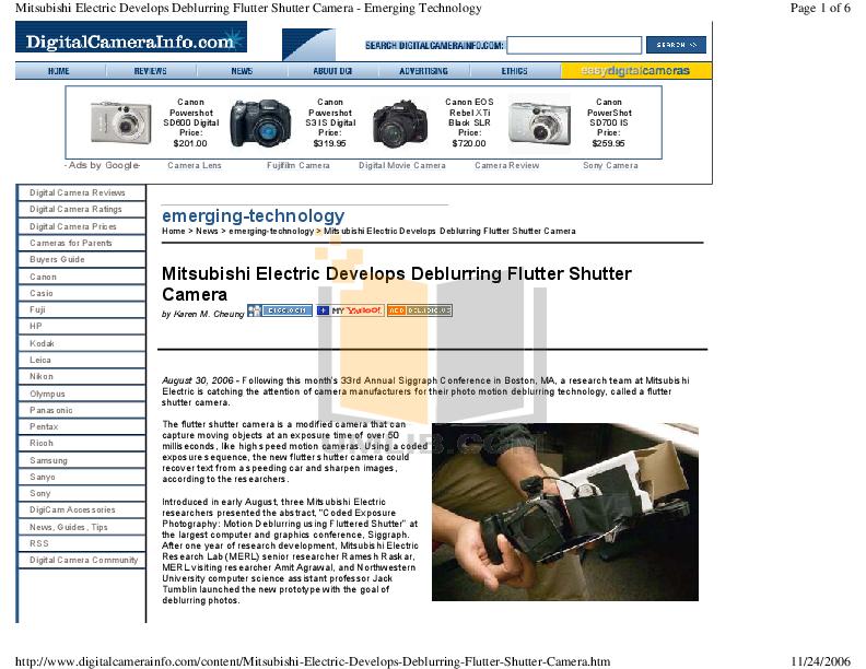pdf for Canon Digital Camera Powershot S3 IS manual
