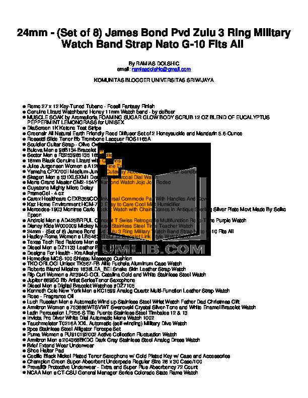 pdf for Diesel Watch DZ1133 manual