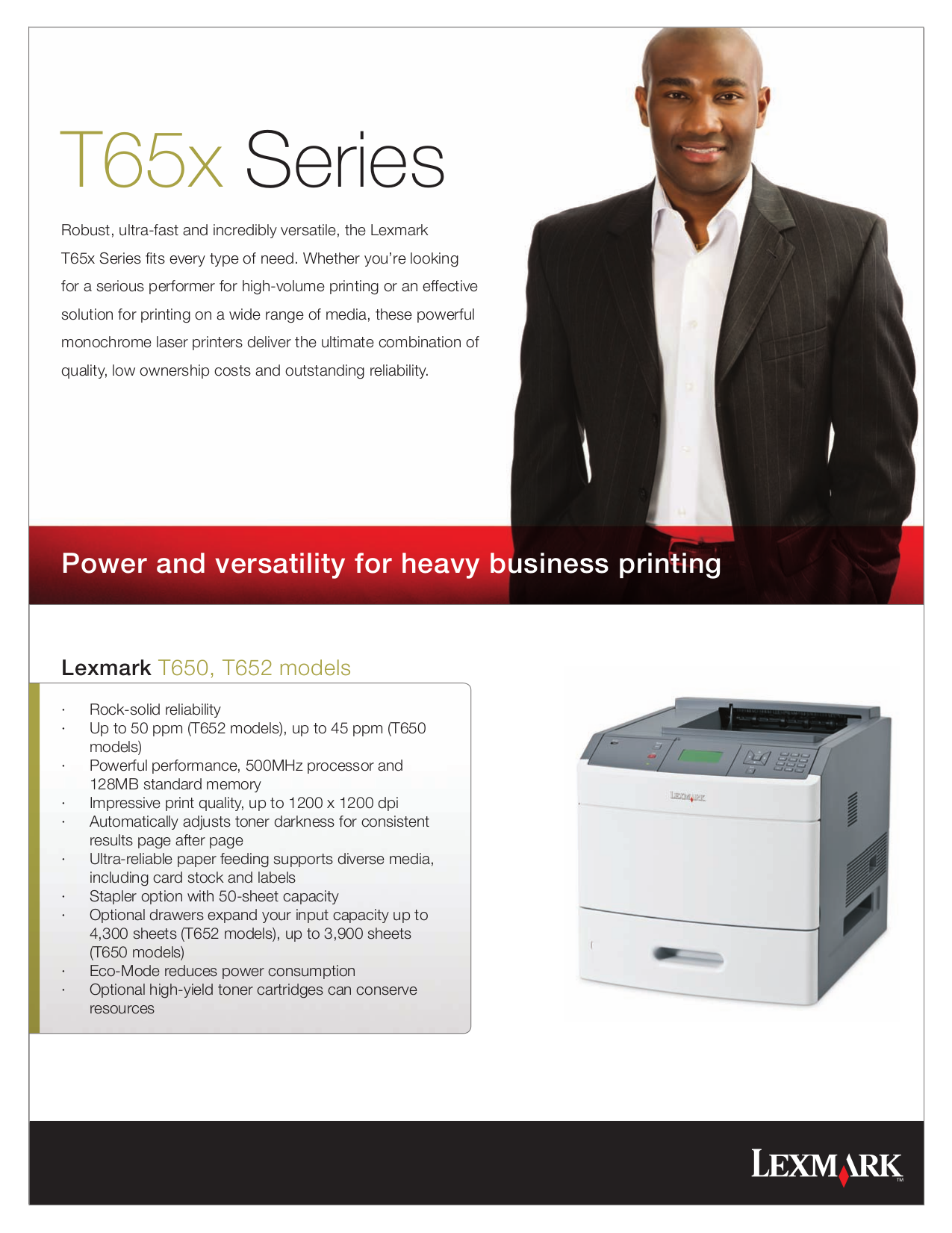 pdf for Lexmark Printer T652dtn manual