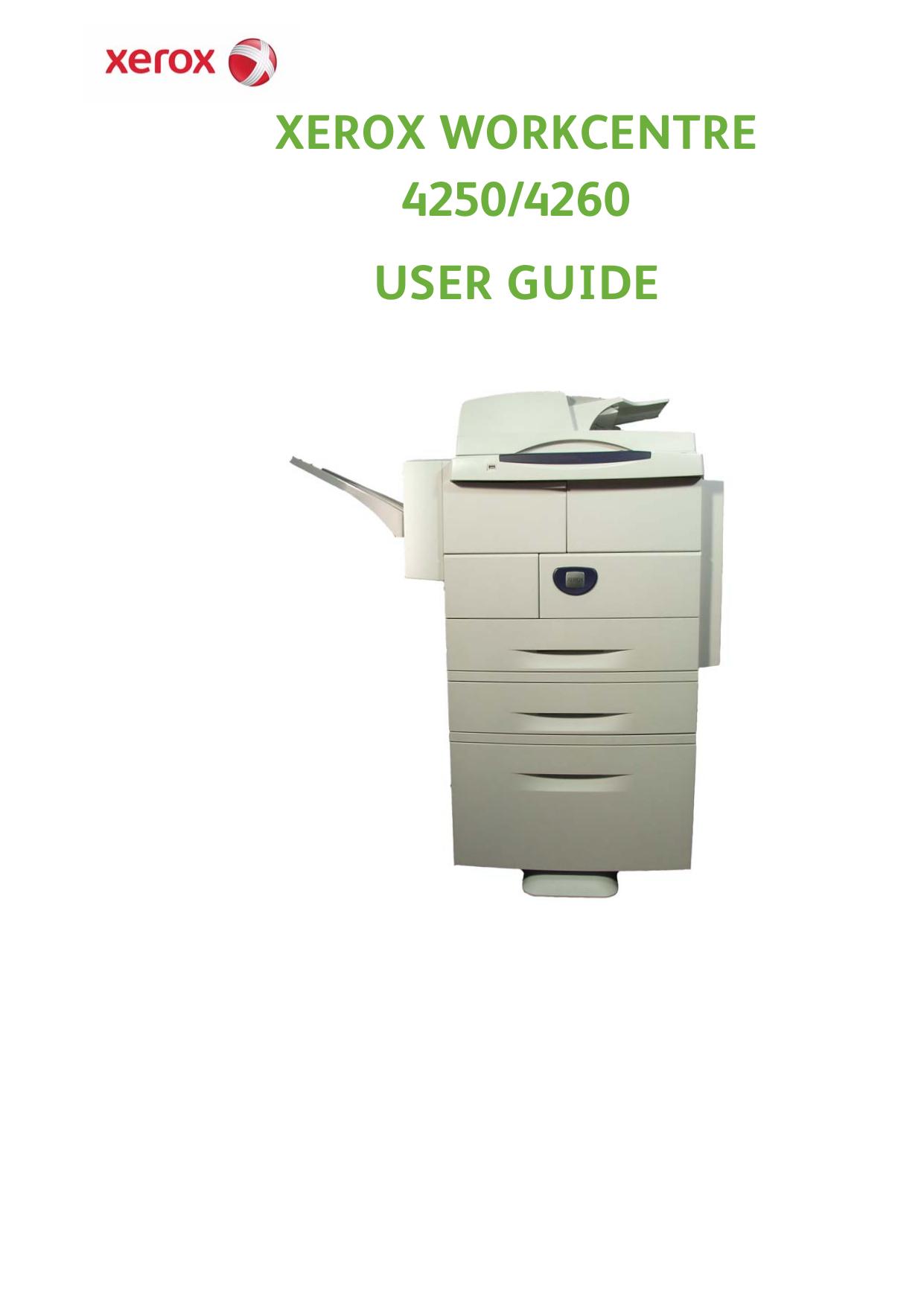 download free pdf for xerox workcentre 4250x multifunction printer rh umlib com xerox wc 4260 service manual xerox workcentre 4260 manual de servicio