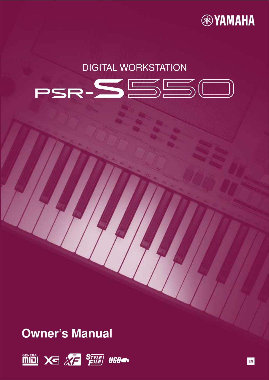 pdf for Yamaha Music Keyboard PSS-450 manual
