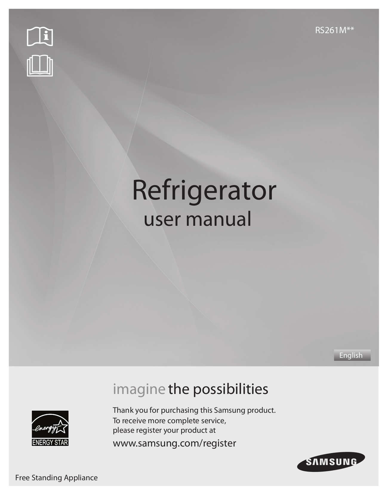 pdf for Samsung Refrigerator RS261MD manual