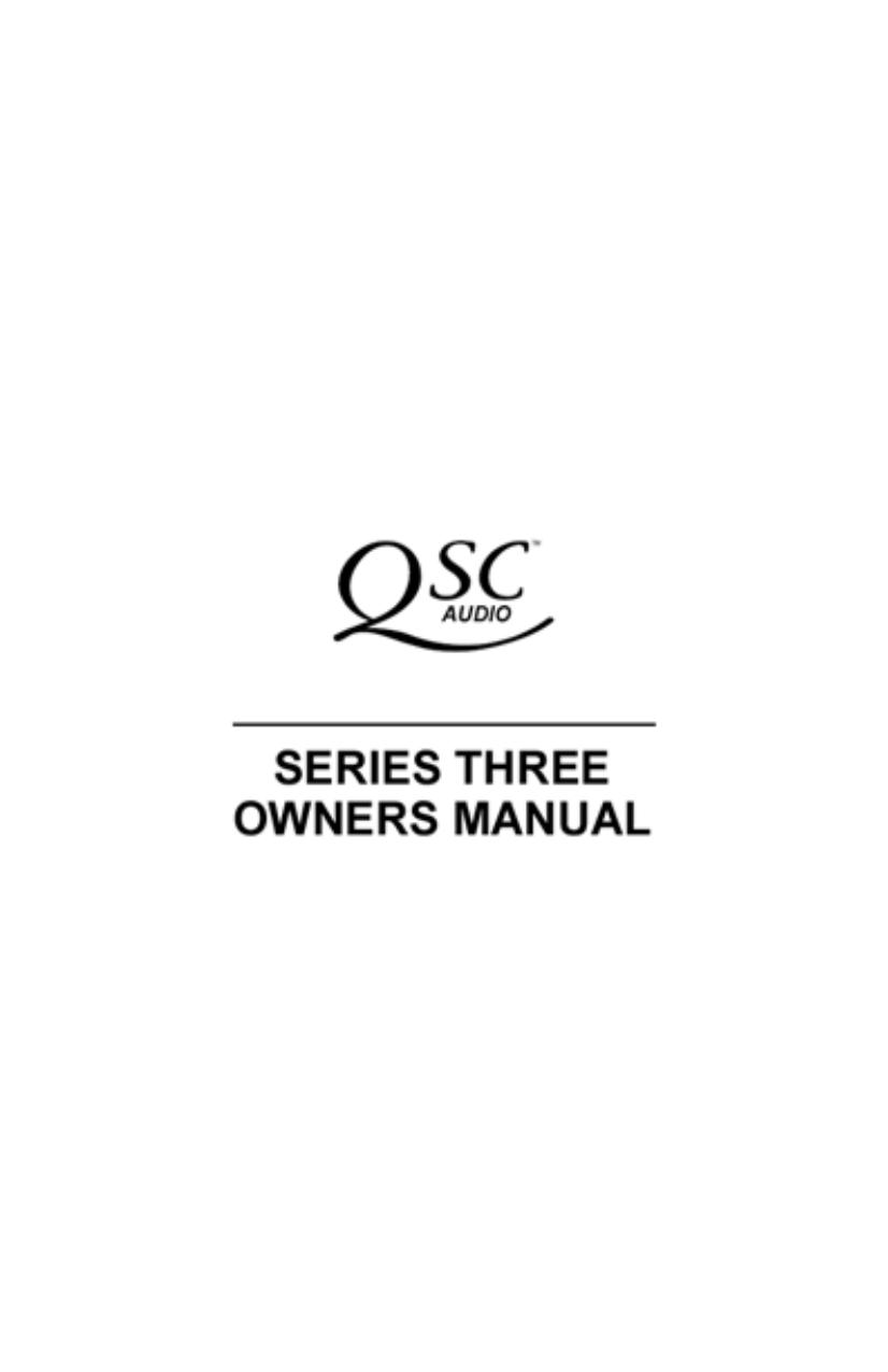 pdf for QSC Amp EX 800 manual