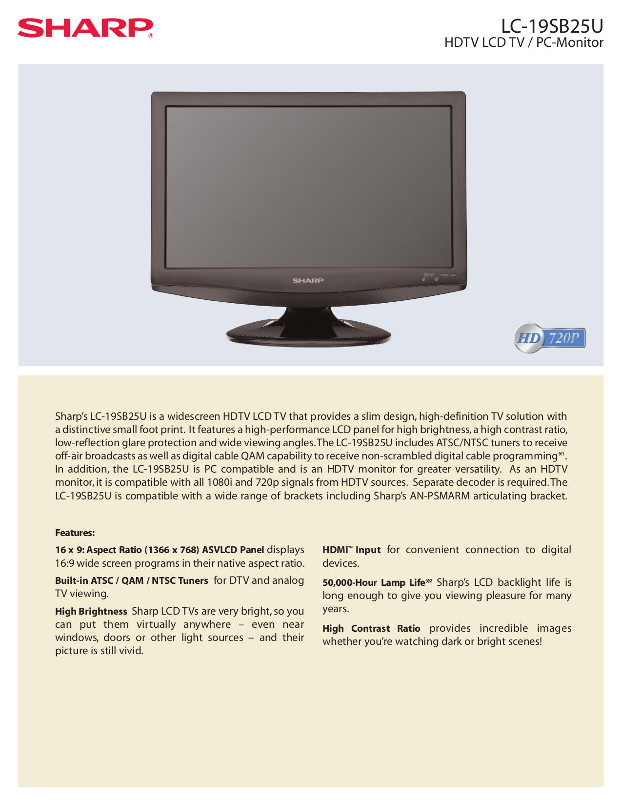 download free pdf for sharp aquos lc 32d47u tv manual rh umlib com Sharp AQUOS LED LCD 42 sharp aquos 42 inch specs