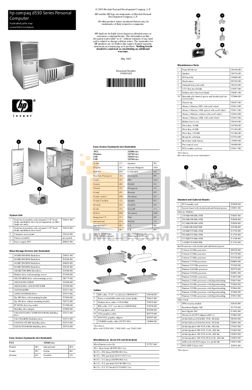 pdf for HP Desktop Compaq d530 SFF manual