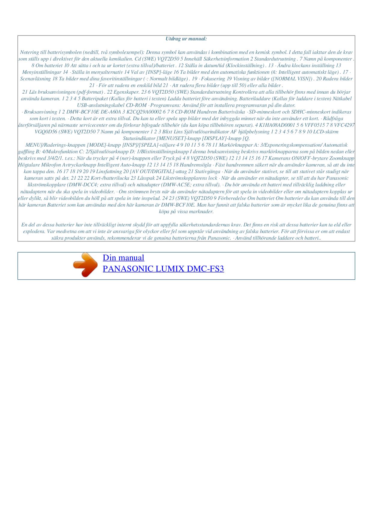 lumix dmc fs62 manual