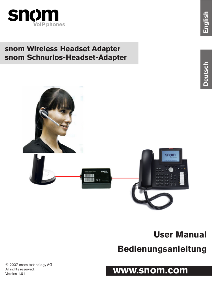 Snom 320 Quick Reference Manual