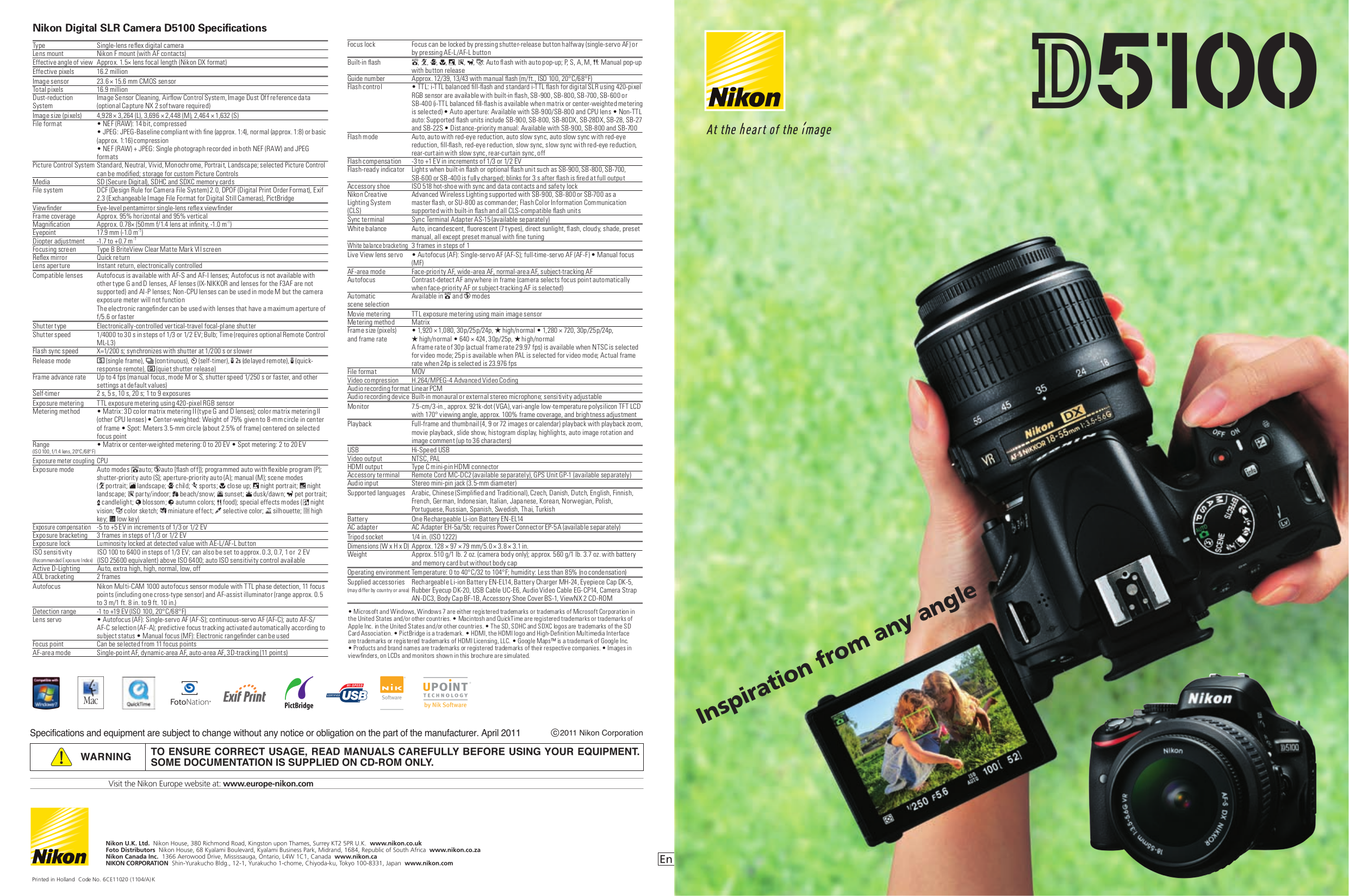 pdf for Nikon Digital Camera D5100 manual