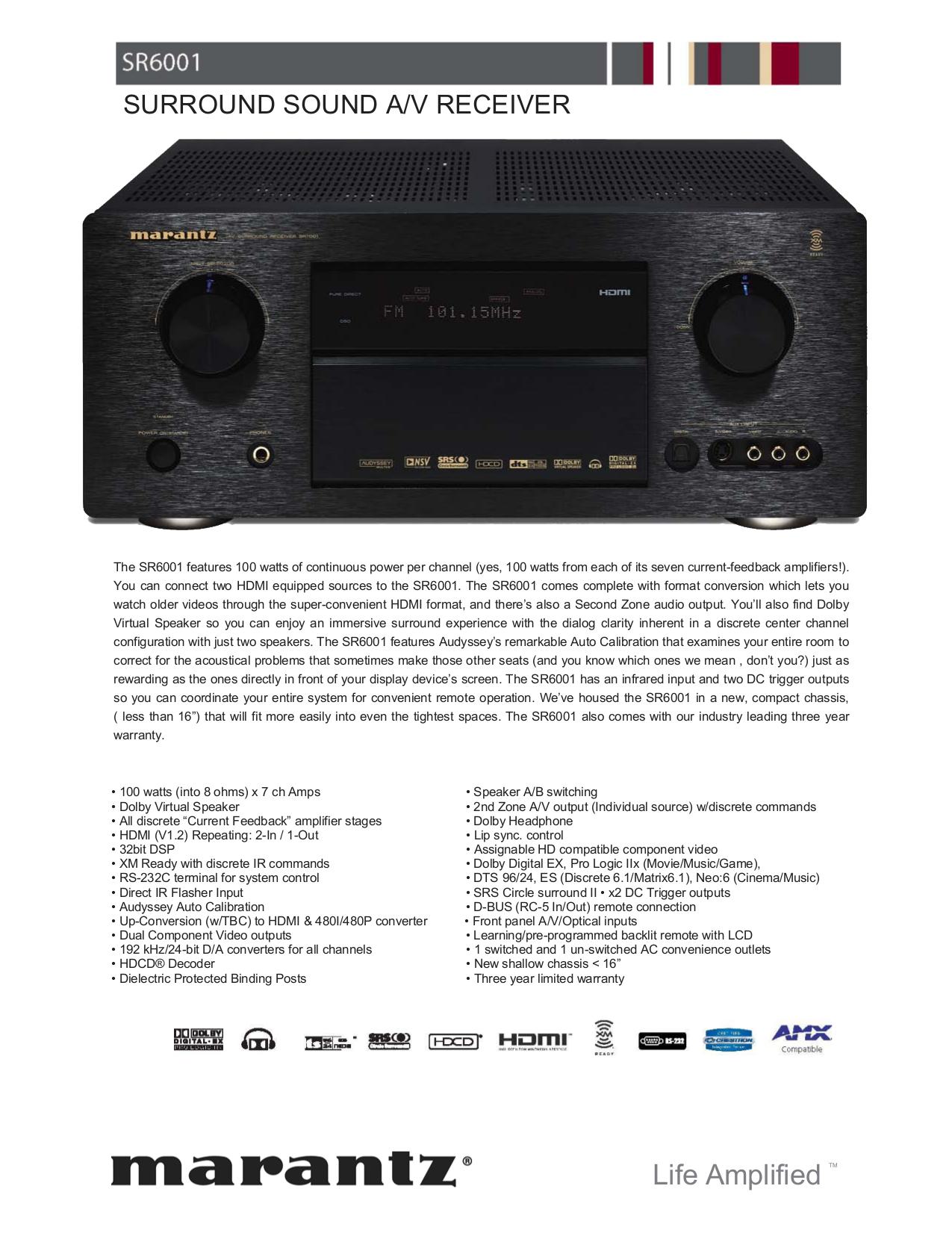 download free pdf for marantz sr6001 receiver manual rh umlib com marantz 6005 manual marantz pm 6001 manual