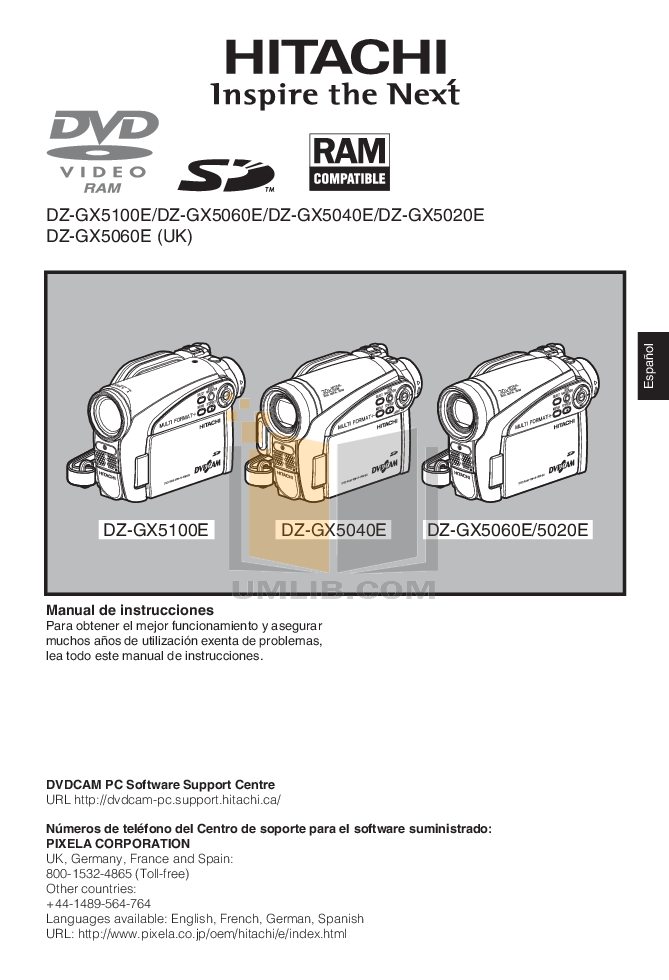 download free pdf for hitachi dz gx5020a camcorders manual rh umlib com hitachi dvd cam dz-gx5020a manual hitachi dz-gx5020e manual